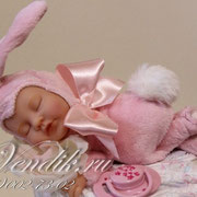 """Торт из памперсов""""Малышка Зайка"""". Подарок для новорожденной девочки. ©"""