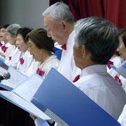 書道部による合唱