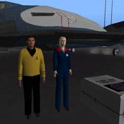UCGO Pack Star Trek - Captain Kirk & Captain Janeway & UCGO Cargo Star Fleet flag
