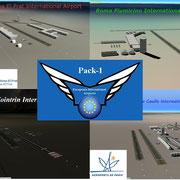 Europeans International Airports (BCN,GVA,CDG,FCO) Pack-1