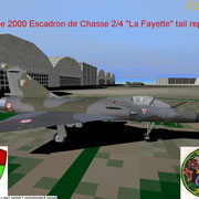 Mirage 2000 Squadron 2-4 La Fayette at Orange Caritat AB 115