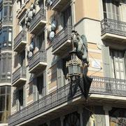 maison à l'angle de la rambla et de la rue de la Boquería