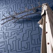 Relieftapete blau