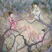 羅浮仙   岩彩日本画