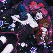 Devilish girl F10 (530×455mm)  (キャンバスにアクリル) 2013年