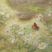 春野にて   岩彩日本画