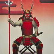 六文銭の覚悟「真田 幸村」:P50 (1167×803)  (水彩・日本画材) 2015年