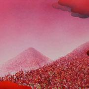 彼岸の森:(440×1088)  (水彩・日本画材) 2014年