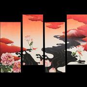 ニッポンノ夜明ヶ:(水彩・日本画材) 2014年