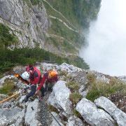 Aufnahme des Opfers mit Bergedreieck