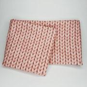 Stirnband Jersey: Strickoptik rosa