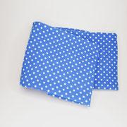 Stirnband Jersey: kleine Punkte blau/weiss