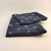Stirnband Jersey: Sterne blau