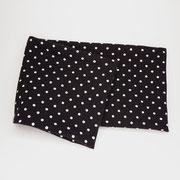 Stirnband Jersey: kleine Punkte schwarz/weiss