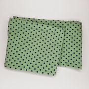 Stirnband Jersey: kleine Punkte hellgrün/dunkelblau