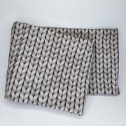 Stirnband Jersey: Strickoptik grau