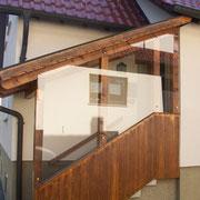 Verglasung eines bereits bestehenden Vordaches, Albstadt-Tailfingen