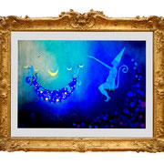 """"""" Magician`s Apprentice """" Fine Art Print with Swarovski Crystals and Metalfoils. Gilded from Hand."""