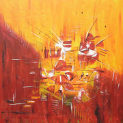 Acryl auf Leinwand   120 cm x 120 cm ............