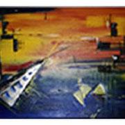 Acryl auf Leinwand   100 cm x 30 cm ............