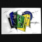 Acryl auf Papier     50 cm x 70 cm