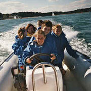 RIB driving in Poole Harbour