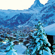 Matterhorn towers above Zermatt, Switzerland.