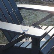 Parksessel Weinglas Weinglashalter Adirondack Chair