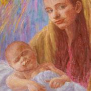 MARIA UND JESUS  80x70 cm
