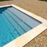 escalier plage piscine