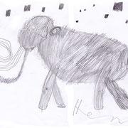 Mammut, Henry - Buntstift und Bleistift auf Papier, 2018