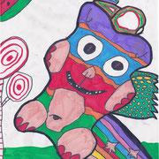 Gummibärchen, Laura - Filzstift auf Papier, 2018