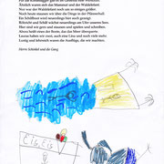 Sehnsucht nach Pfännerhall, Zoe - Filzstift, Buntstift, Bleistift auf Papier, 2019