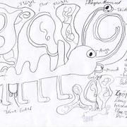 Fliegermammut, Henry - Bleistift auf Papier, 2019