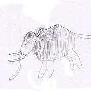 Mammut, Ian - Buntstift und Bleistift auf Papier, 2018
