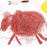 Mammut, John - Buntstift, Wachsmalstift und Bleistift auf Papier, 2018