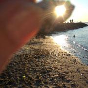 die Sonne eingefangen...