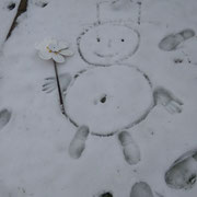 man muss sich nur zu helfen wissen wenn der Schneefall nicht reicht
