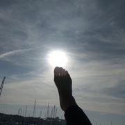 die Sonne berühren