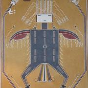 """Peinture des Sables Navajo - """"Voie de la beauté""""- 50X60cm"""