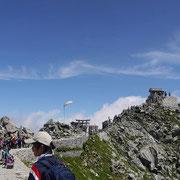 2011年8月_雄山山頂にて