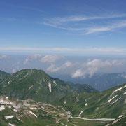 2011年8月_雄山山頂より室堂平野