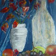mit Acryl gemalt