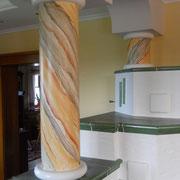 Säulengestaltung Wohnküche