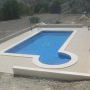 Construcción de piscinas en Hondon de los frailes