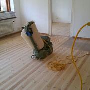 geschliffene Böden im Bauernhaus