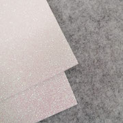 Gomma glitterata Bianco