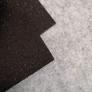 Gomma glitterata Nero