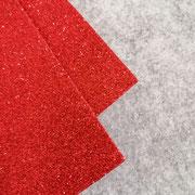Gomma glitterata Rosso