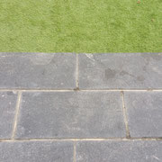 paving and grass
